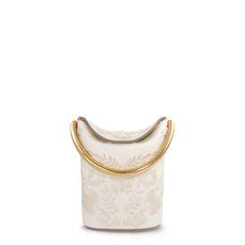 Ivory Floral Embroidered Shoulder Bag