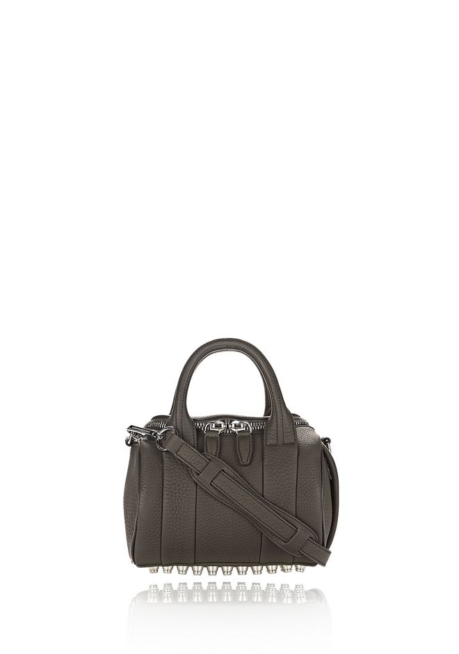 ALEXANDER WANG mini-bags MINI ROCKIE IN MATTE GRASS WITH RHODIUM