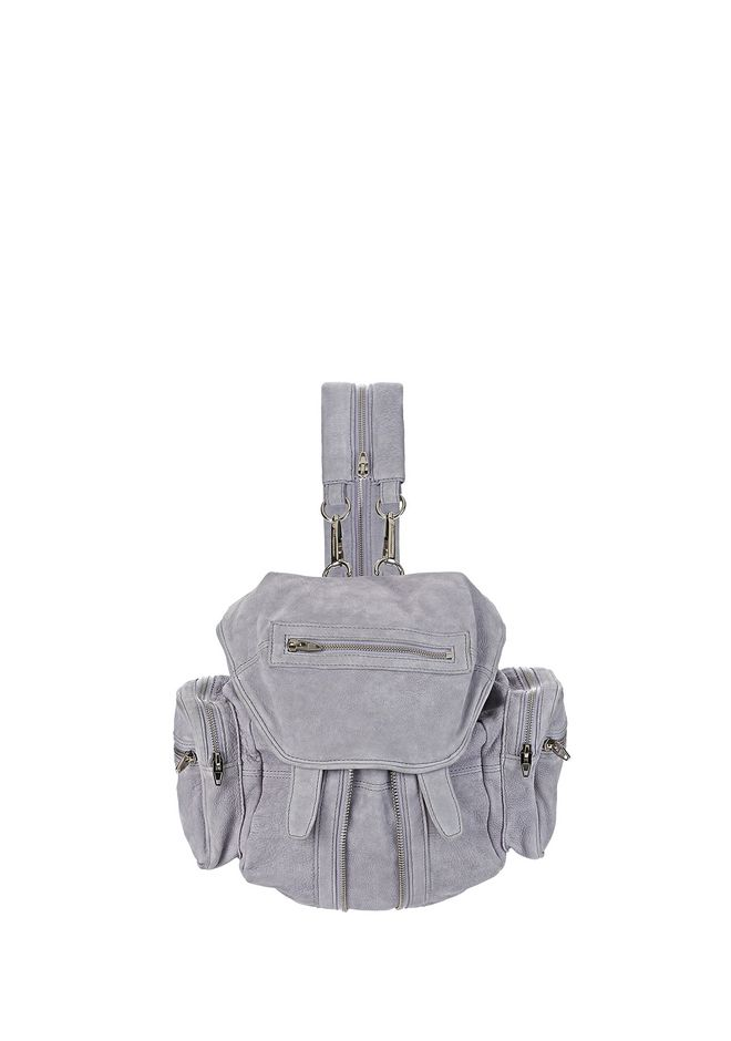 ALEXANDER WANG BACKPACKS Women MINI MARTI IN LAVENDER NUBUCK WITH RHODIUM