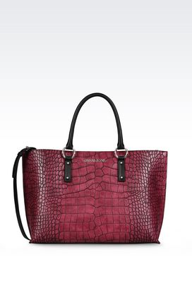 Armani Shopper Donna borsa shopping stampa cocco