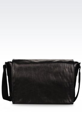 Armani Messenger bags Men messenger bag in calfskin