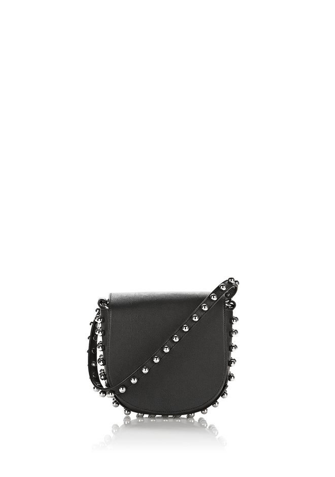 ALEXANDER WANG mini-bags MINI LIA IN BLACK WITH BALL STUDS