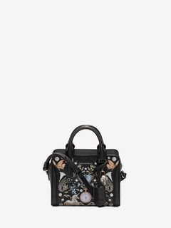 Nocturnal print calf leather Mini Padlock
