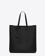 SHOPPING SAINT LAURENT Tote Bag in Black Leather