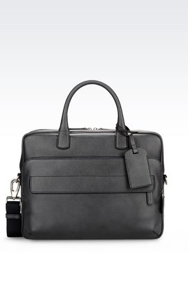 Armani Briefcases Men briefcase in printed calfskin