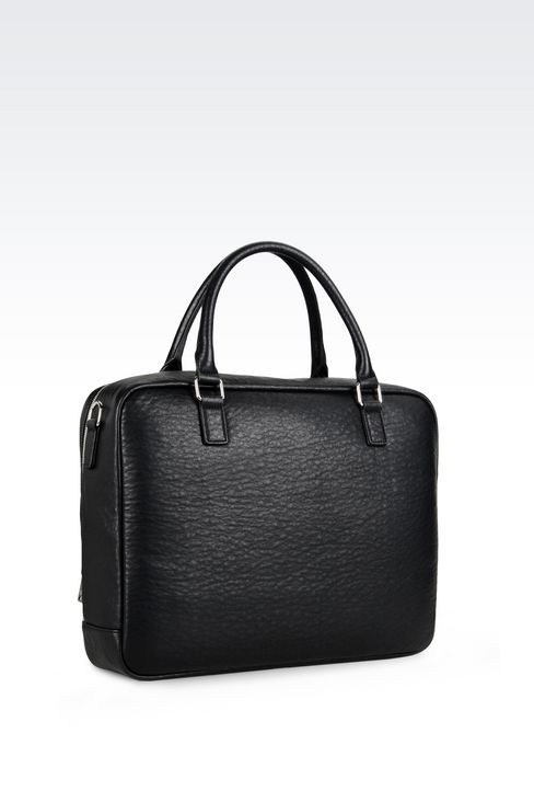BRIEFCASE WITH COMPUTER POCKET: Satchels Men by Armani - 3