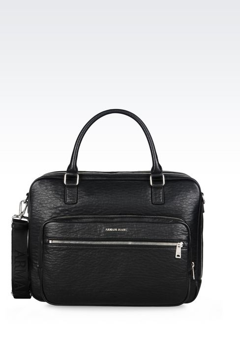 BRIEFCASE WITH COMPUTER POCKET: Satchels Men by Armani - 1