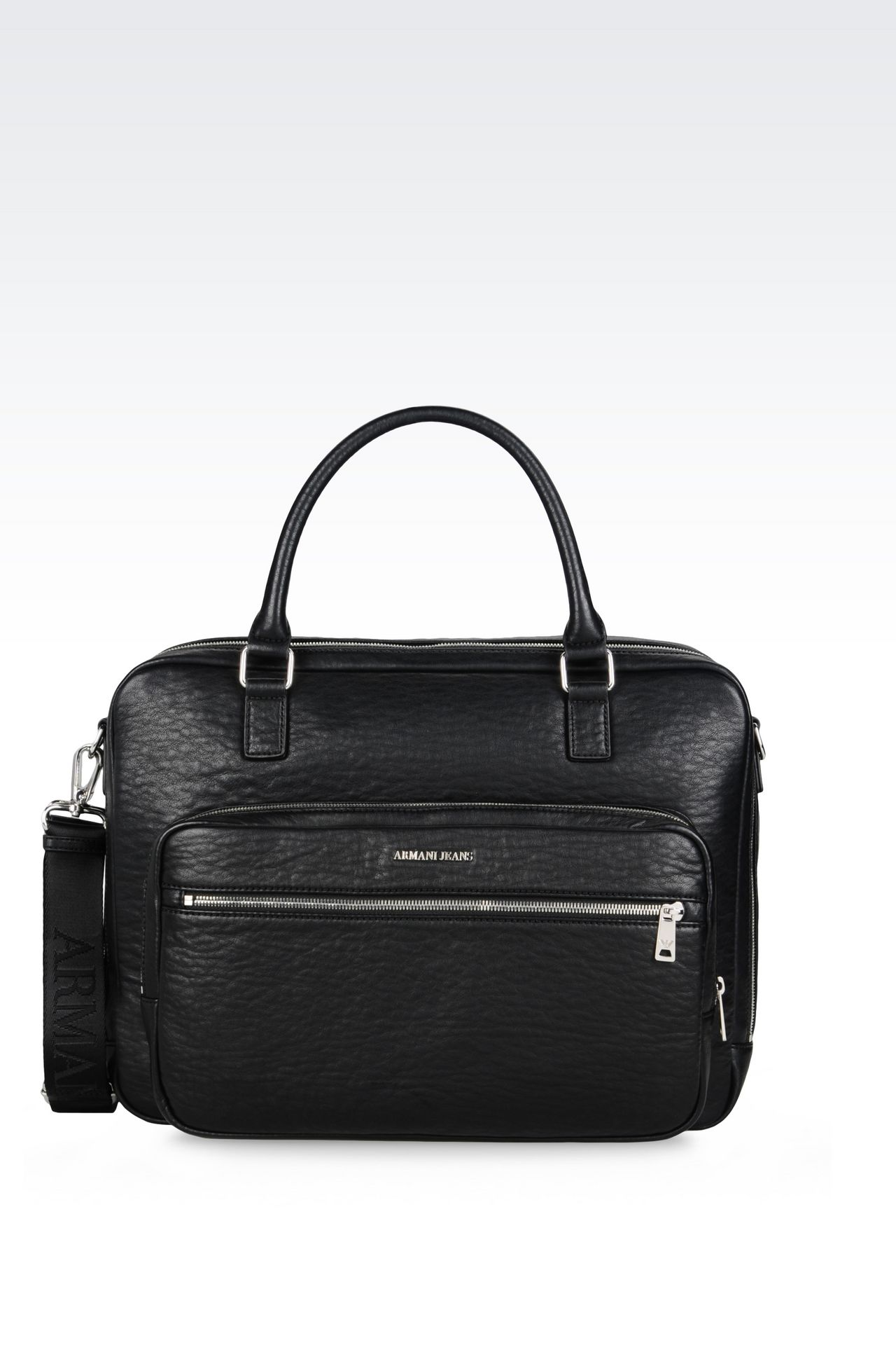 BRIEFCASE WITH COMPUTER POCKET: Satchels Men by Armani - 0