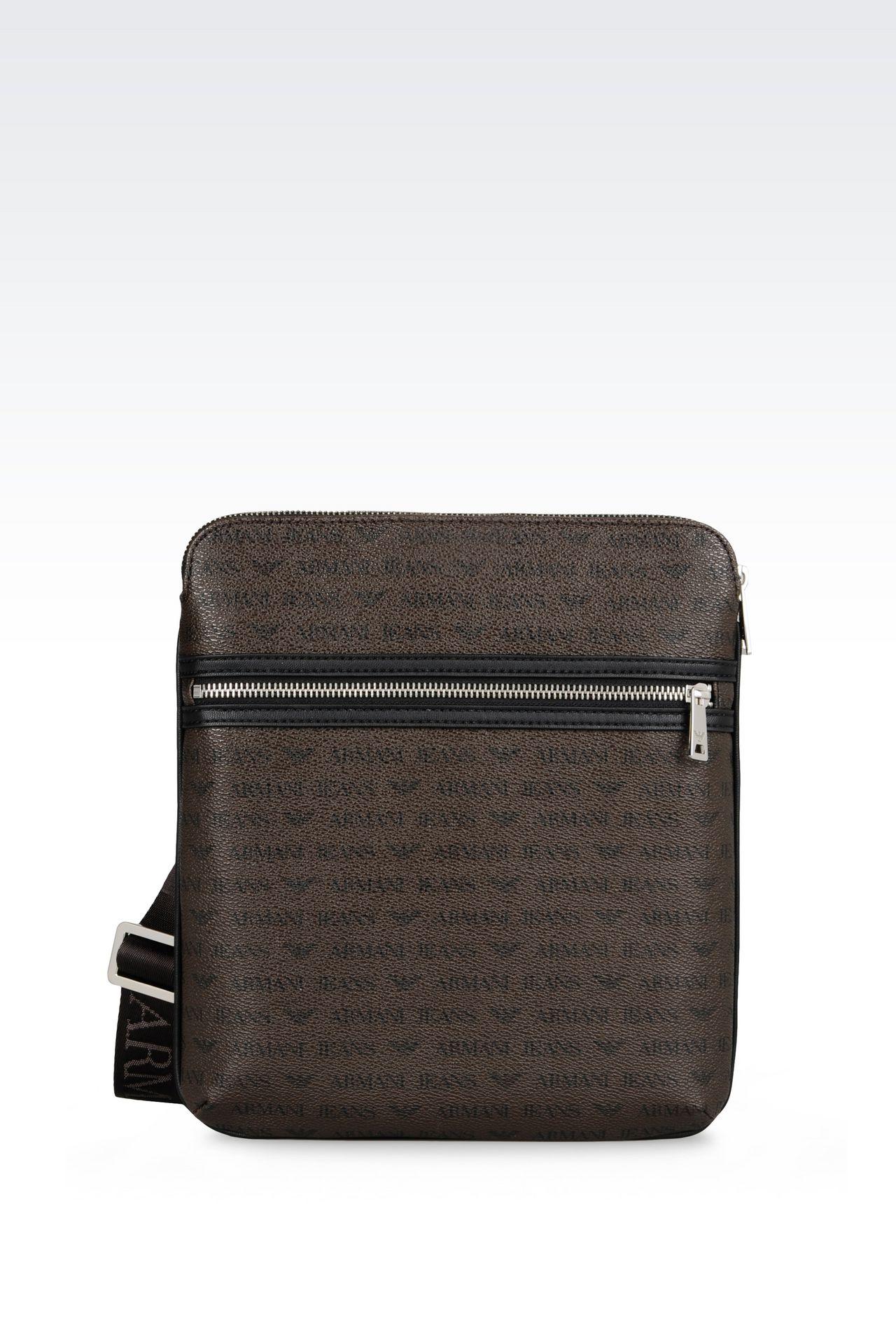 Armani jeans homme sac bandouli re avec porte tablette for Porte tablette