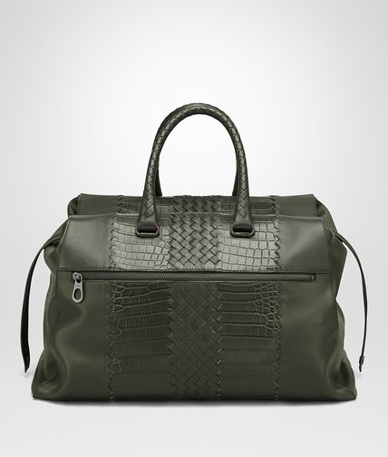 DUFFEL BAG IN DARK SERGEANT CROCODILE CLUB FUME