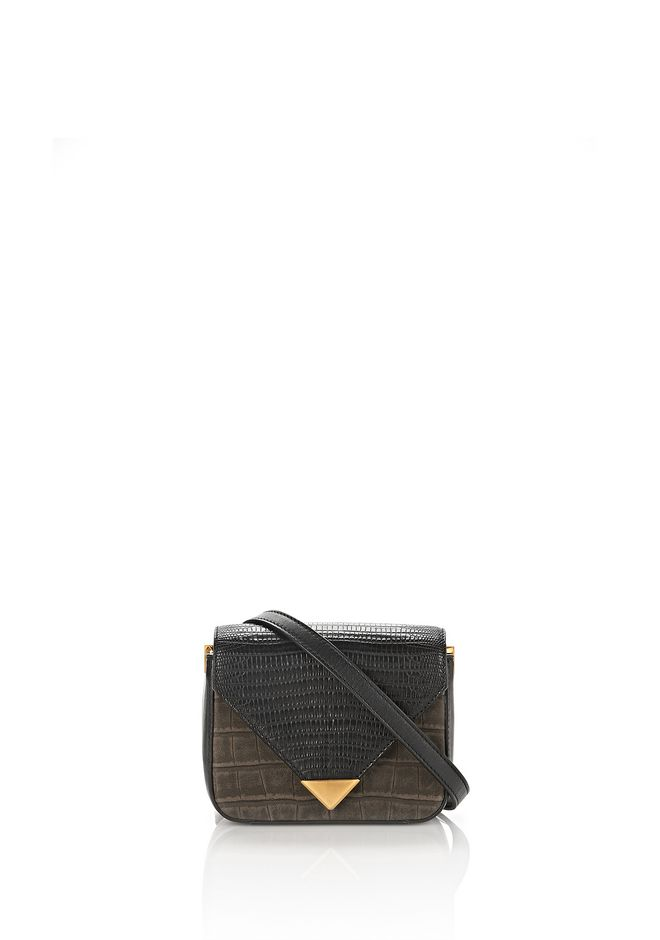 ALEXANDER WANG new-arrivals-bags-woman MINI PRISMA ENVELOPE SLING IN CROC EMBOSSED AND NUBUCK MILITARY