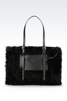 Armani Shoppers Women tote bag in goat mohair