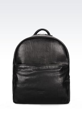 Armani Backpacks Men rucksack in calfskin