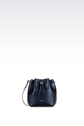 Armani Shoulder bags Women bucket bag in deerskin print calfskin