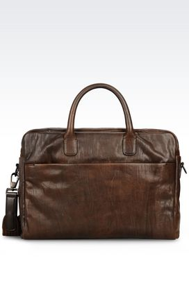 Armani Travel bags Men holdall in calfskin
