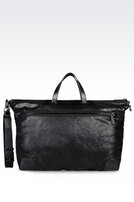 Armani Shoppers Men holdall in calfskin