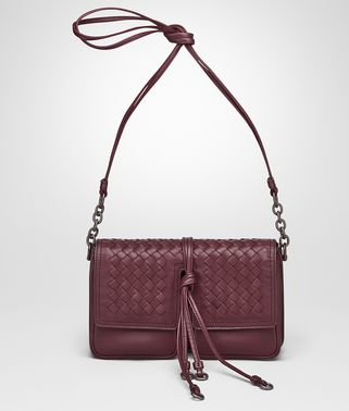 SHOULDER BAG IN BAROLO NAPPA LEATHER, INTRECCIATO DETAILS