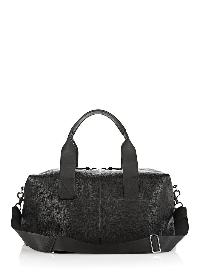 ALEXANDER WANG Travel BERKELEY DUFFLE IN SOFT PEBBLED BLACK WITH RHODIUM