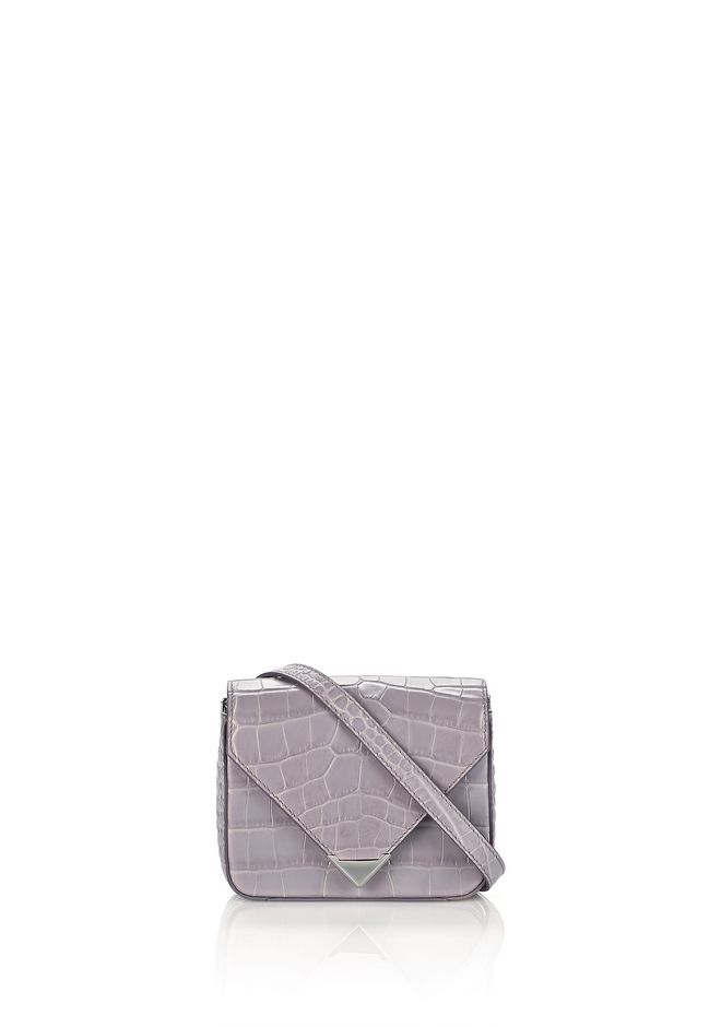 ALEXANDER WANG new-arrivals-bags-woman MINI PRISMA ENVELOPE SLING IN CROC EMBOSSED LAVENDER WITH RHODIUM