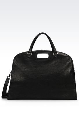 Armani Travel and duffel bags Men holdall in calfskin