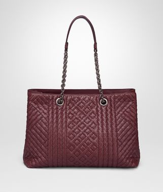MEDIUM TOTE BAG IN BAROLO INTRECCIATO CALF, EMBROIDERED DETAILS