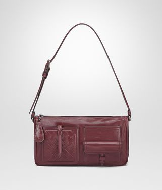 SHOULDER BAG IN BAROLO CALF LEATHER, INTRECCIATO DETAILS