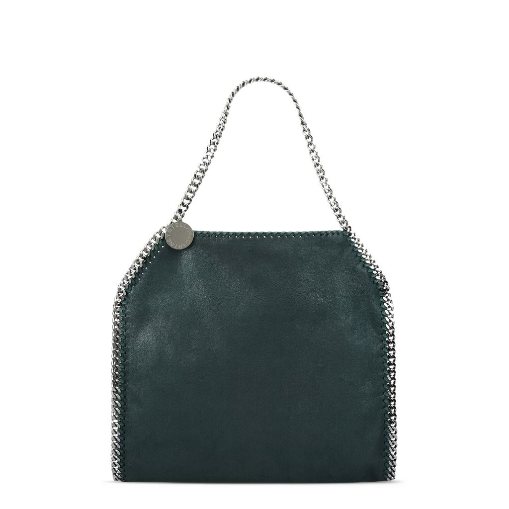 Falabella Small Tote in Shaggy Deer Petrolio