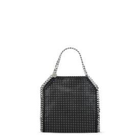 Black Falabella Studded Mini Tote
