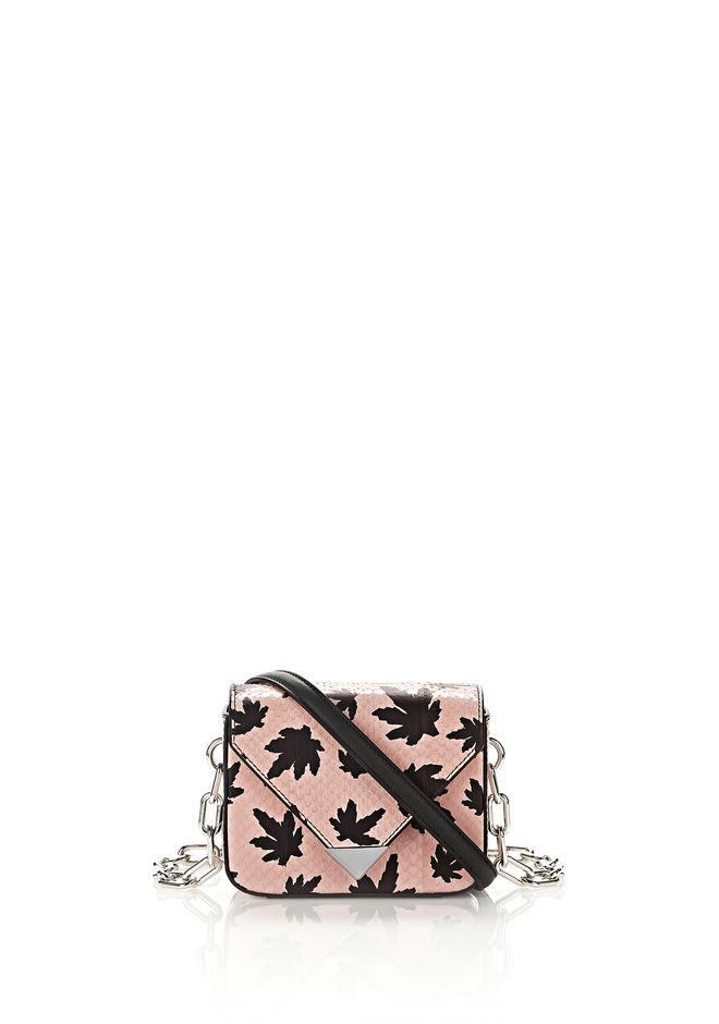 ALEXANDER WANG new-arrivals PRISMA ENVELOPE MINI CHAIN SLING IN CAMEO PINK ELAPHE WITH RHODIUM