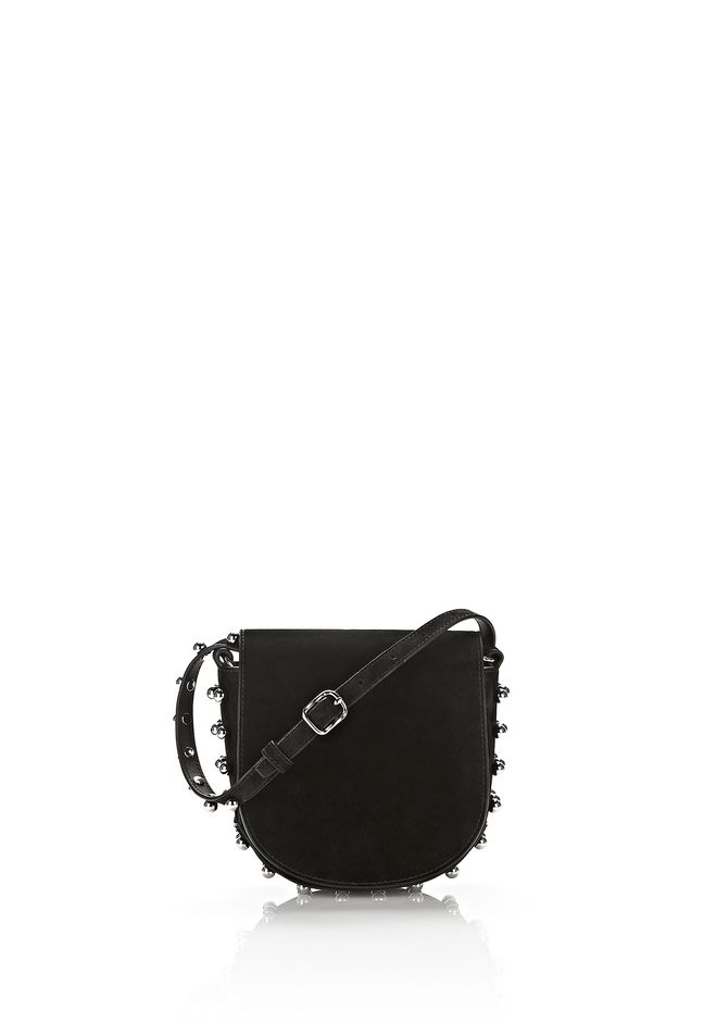 ALEXANDER WANG Shoulder bags Women MINI SUEDE LIA IN BLACK WITH BALL STUDS