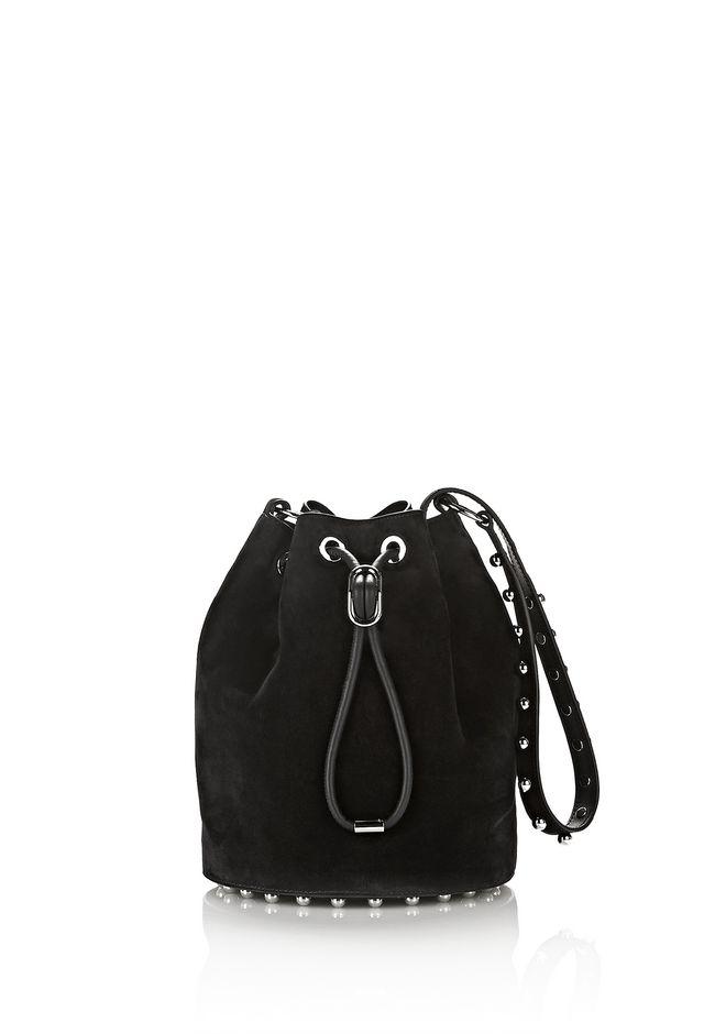 ALEXANDER WANG Shoulder bags ALPHA SUEDE BUCKET IN BLACK WITH BALL STUDS