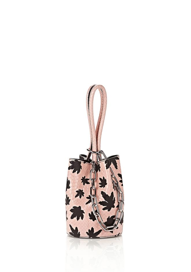 ALEXANDER WANG new-arrivals RUNWAY ROXY MINI BUCKET IN CAMEO PINK ELAPHE WITH RHODIUM