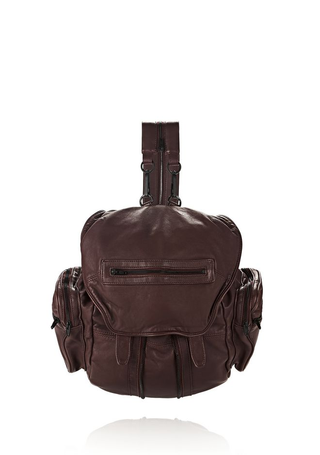 ALEXANDER WANG BACKPACKS Women MARTI IN WASHED BEET WITH MATTE BLACK