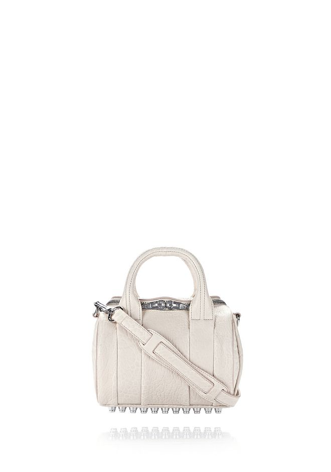 ALEXANDER WANG new-arrivals-bags-woman MINI ROCKIE IN PEBBLED OPALINE WITH RHODIUM