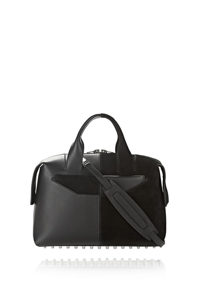 ALEXANDER WANG new-arrivals-bags-woman ROGUE LARGE SATCHEL IN SUEDE AND LEATHER COMBO
