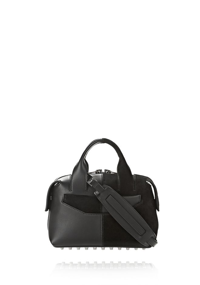 ALEXANDER WANG Shoulder bags Women ROGUE SMALL SATCHEL IN SUEDE AND LEATHER COMBO