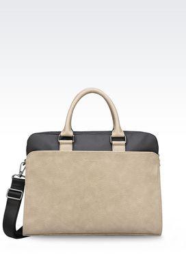 Armani Briefcases Men briefcase with computer pocket