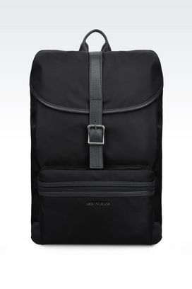 Armani Backpacks Men backpack in technical fabric