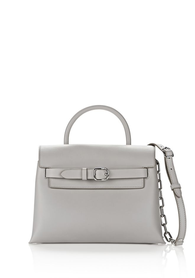 ALEXANDER WANG exclusives EXCLUSIVE ATTICA CHAIN CROSSBODY IN HEATHER GREY WITH RHODIUM
