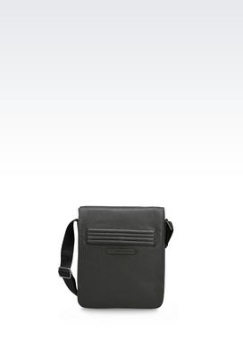 Armani Messenger bags Men cross body bag in technical fabric