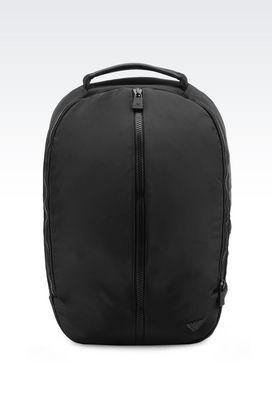 Armani Backpacks Men backpack in nylon and calfskin