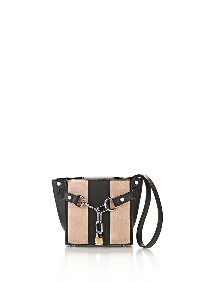 ALEXANDER WANG Shoulder bags Women ATTICA MINI SATCHEL IN STRIPED SUEDE WITH RHODIUM
