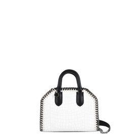 White Falabella Box Alter Croc Mini Bag