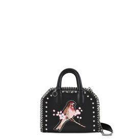 Black Falabella Box Bird Mini Bag