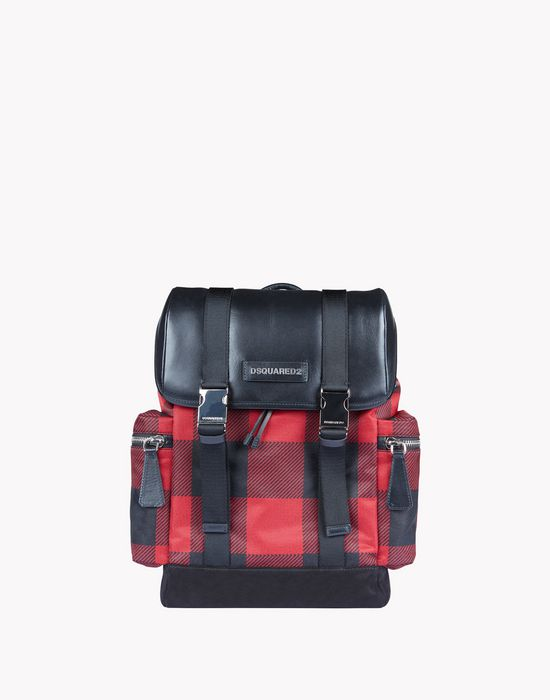 buffalo check donald backpack バッグ メンズ Dsquared2