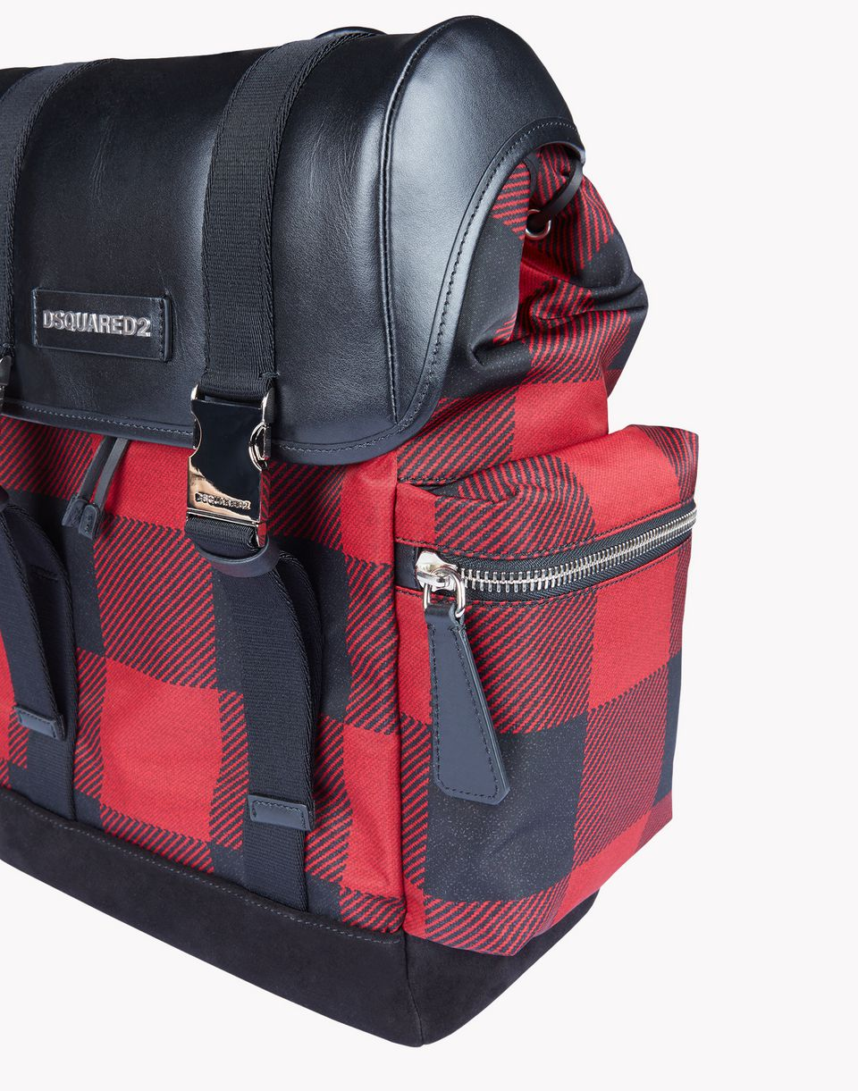buffalo check donald backpack handbags Man Dsquared2