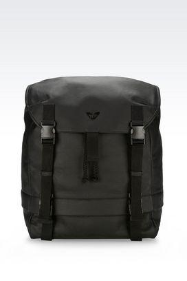 Armani Backpacks Men backpack in grained calfskin