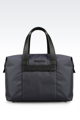 Armani Travel bags Men holdall in technical fabric