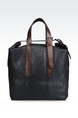 Armani Shoppers Men runway bag in smooth calfskin