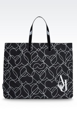 Armani Shoppers Women foldaway tote bag